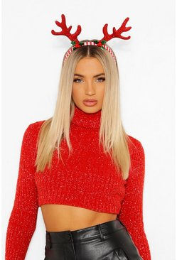 Red Candy Stripe Antlers