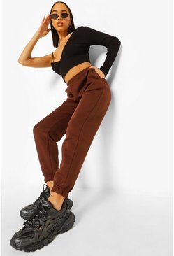 Chocolate brown Casual Loose Fit Joggers