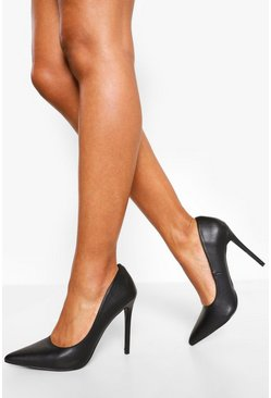 Black svart Spetsiga pumps