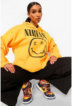 Yellow Nirvana License Print Hoodie