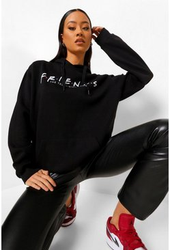 Black Friends Print License Hoodie