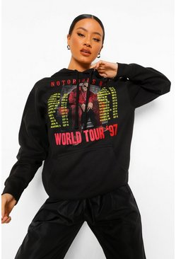 Notorious Big License Hoodie, Black negro