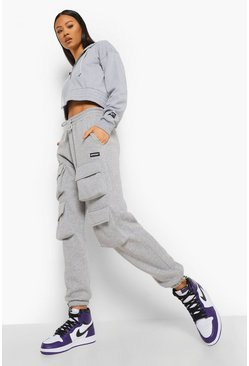 Grey marl grey Official Front Cargo Pocket Joggers