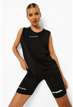 Black Reflective Active Vest