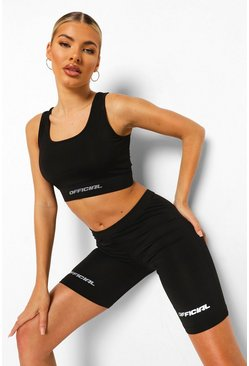 Black Reflective Active Cycling Shorts