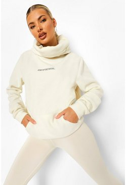 Ecru white Active Snood Fleece