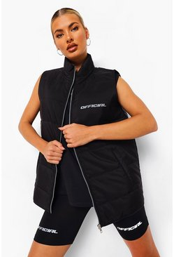 Black Padded Active Gilet