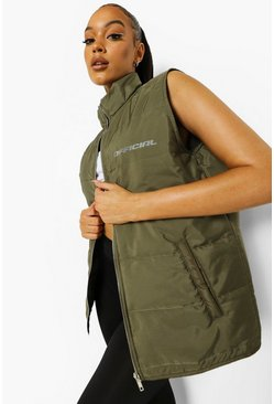 Khaki Padded Active Gilet