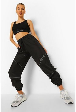 Black Waterproof Oversized Joggers