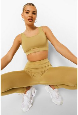 Biscuit beige Woman Rubber Tab Sports Bra
