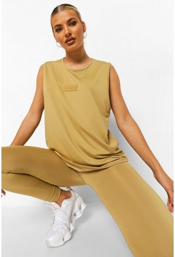 Biscuit beige Woman Rubber Tab Active Vest