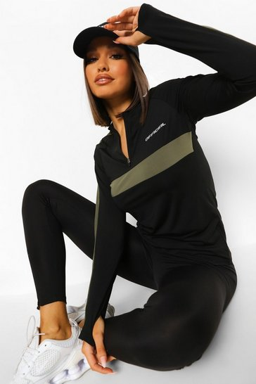 Black Active Long Sleeve Tee