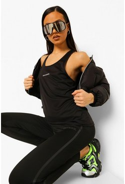Black Active Vest Top
