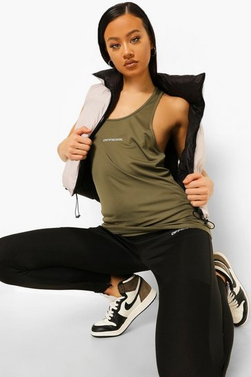 Khaki Active Vest Top