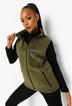 Active Fleece-Bodywarmer, Khaki khakifarben