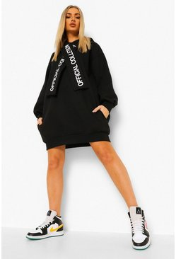 Robe sweat à capuche coupe oversize Official Collection, Noir