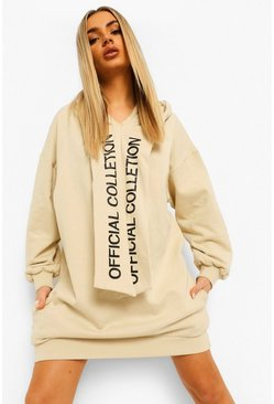 Sand beige Official Collection Oversized Hoodie Dress