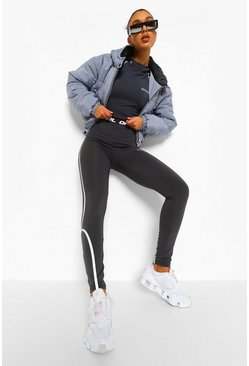 Grey Reflective Active Leggings