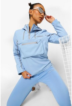 Baby blue blue Reflective Active Cagoule