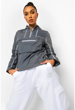 Grey Reflective Active Cagoule