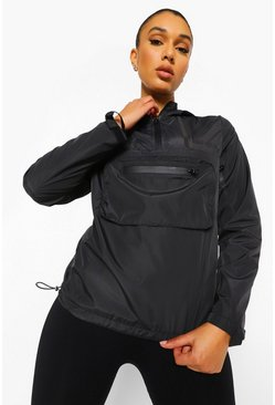 Black Tonal Reflective Active Cagoule