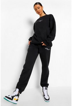 Black Woman Official Embroidered Oversized Tracksuit