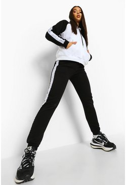 Black Ofcl Tape Colour Block Tracksuit