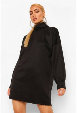 Black Roll Neck Sweater Dress