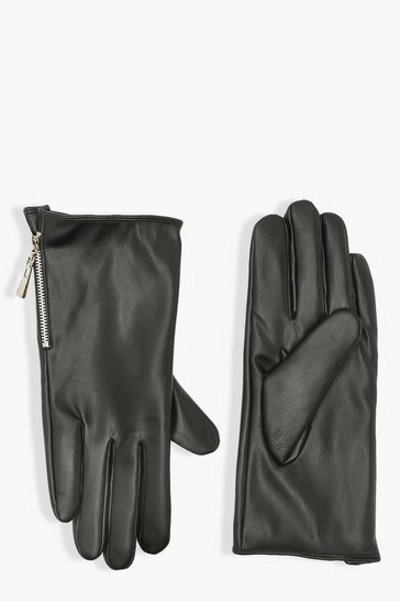 Black Zip Detail Glove