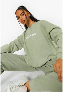Washed lime yellow Pantone Acid Wash Crew Neck Sweatshirt