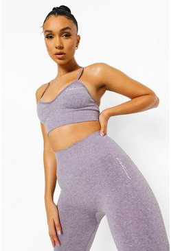 Purple Seamfree Marl Sports Bra