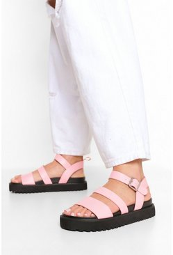Light pink pink Double Strap Sporty Dad Sandal