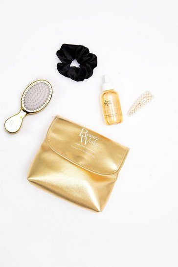 Gold metallic Beauty Works Smooth Serum Styling Kit