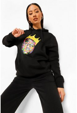 Black Biggie License Hoodie