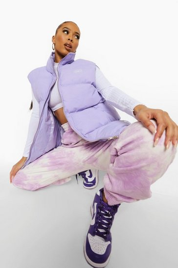 Lilac purple Oversized Padded Gilet