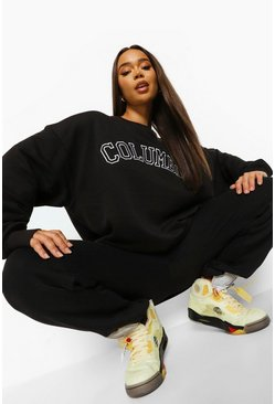 Black Columbia Oversized Sweatshirt