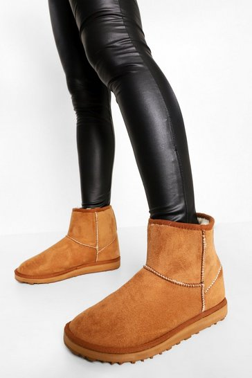 Tan brown Ankle Cosy Boot