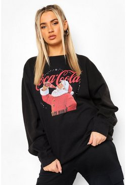 Sweat de Noël Coca Cola, Black noir