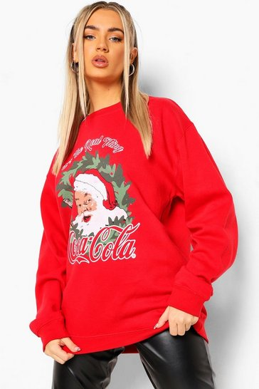 Red Coca Cola Xmas Wreath Sweathshirt