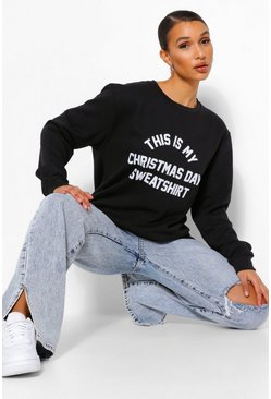 Black This Is My Christmas Sweatshirt