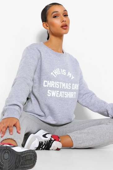 Grey marl grey This Is My Christmas Sweatshirt