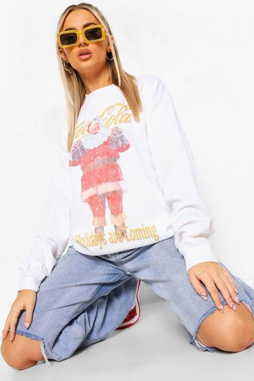 White Coca Cola Christmas Sweathshirt