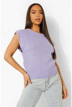 Lavender purple Boxy Knitted Tank