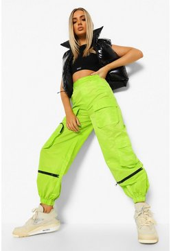 Neon-green neon Neon Shell Cargo Trousers