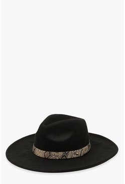Black Snake Trim Fedora