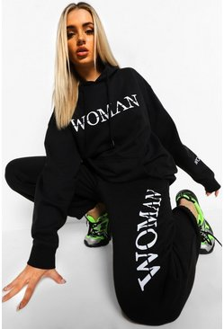 Black Woman Roman Double Print Oversized Hoodie