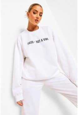 White 2020 Sweatshirt