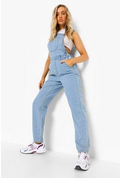 Vintage blue blue Vintage Wash Relaxed Straight Leg Overall