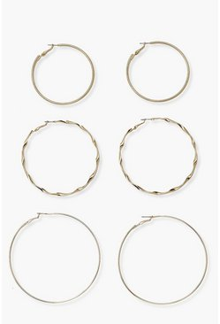 Gold metallic 3 Mix Pack Hoop