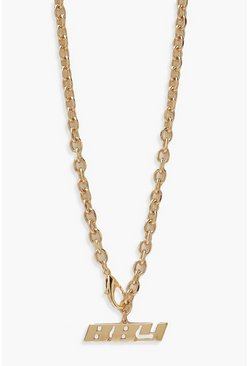 Gold metallic Bby Clasp Necklace